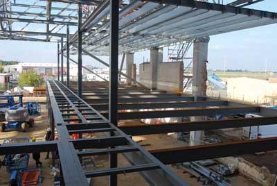 New steel mezzanines will accommodate classrooms