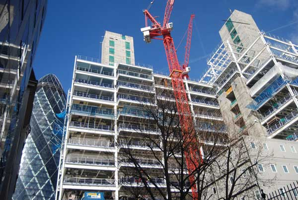 Eight-year high for London office construction