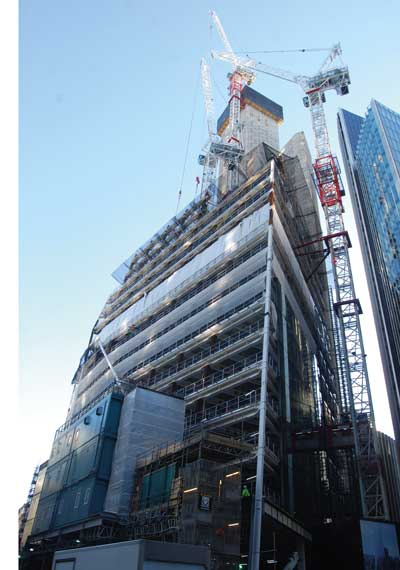 London's Scalpel building takes shape