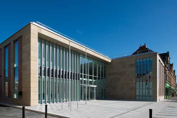 Carlisle council offices complete with steel
