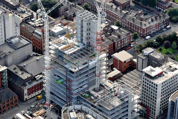 Construction booms in UK regions