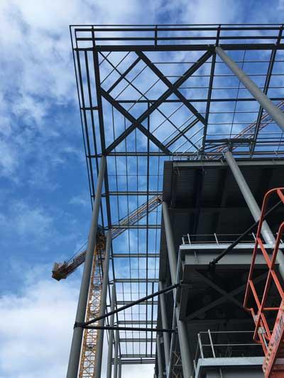 A canopy tops the media hub