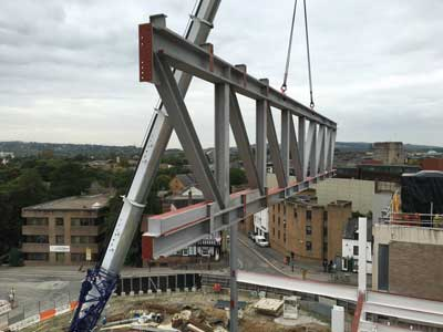 Retail scheme buys into steel construction