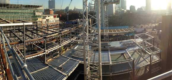 New steel floors being erected