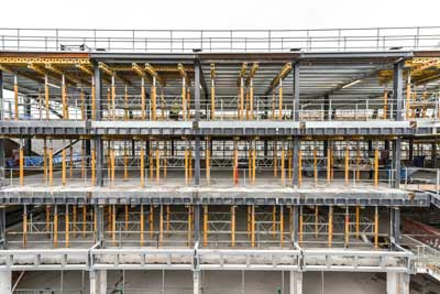 Steelwork is providing the building with new internal floors