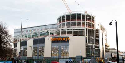 Sainsbury's was partially opened last year