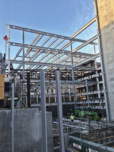 The cellular plate girders produced cost savings in the region of 20 per cent