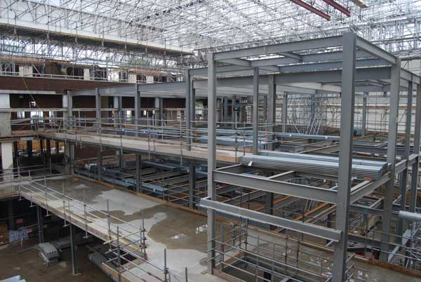 Steel frame up for designer retail and leisure centre