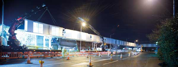 Steel link bridge for Heathrow Airport hotel