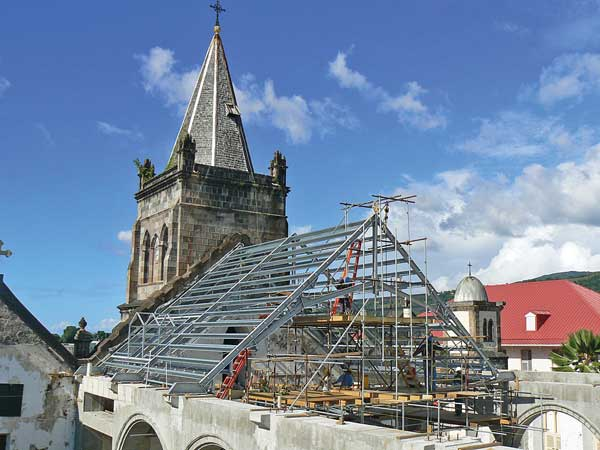 Cathedral roof raised in Dominica