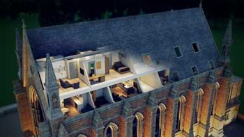 Historic chapel reborn as student accommodation