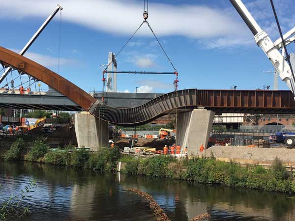 Manchester's Ordsall Chord nears completion