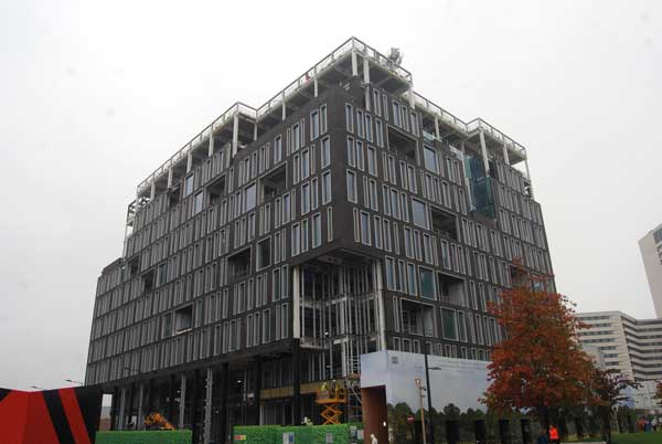 Frame completes on latest King's Cross commercial block