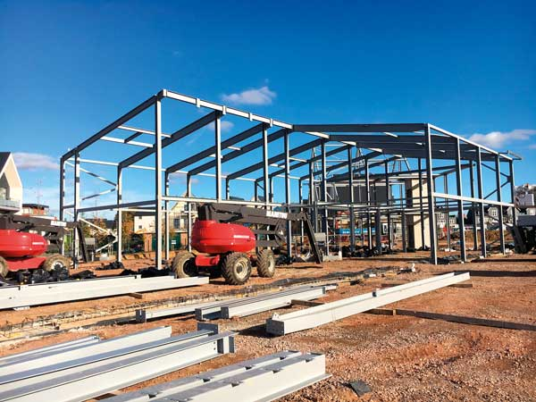 Steel frames take shape for Essex school