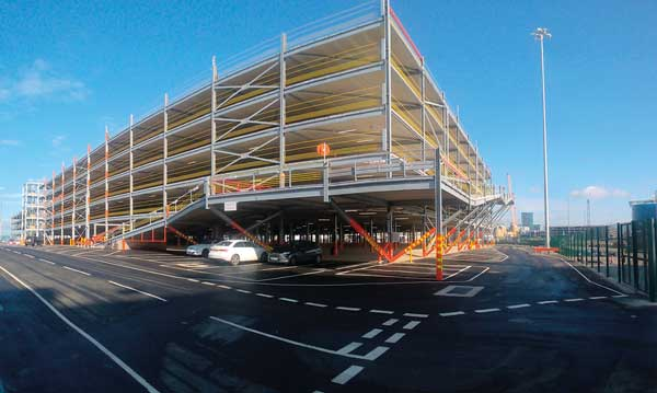 Steel-framed car terminal opens ahead of schedule