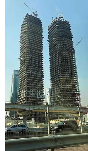 UK supplier decks twin Dubai skyscrapers