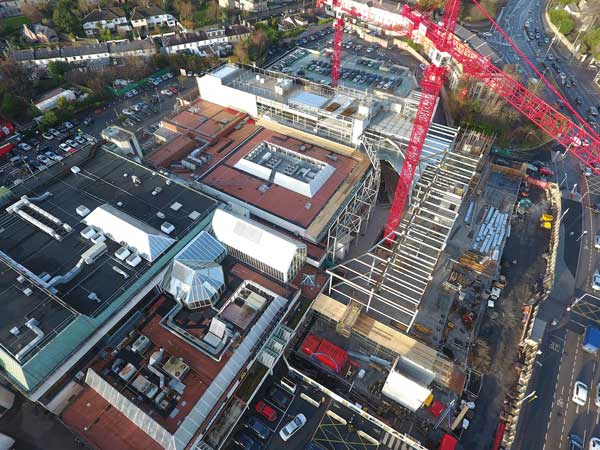 Dublin shopping centre expands with steel