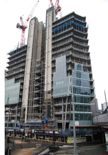 Latest Snowhill scheme nears topping out