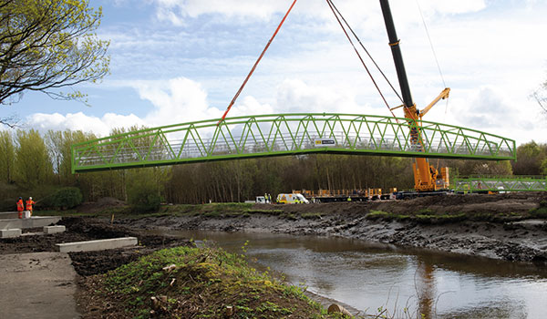 River Carron communities connected by new bridge