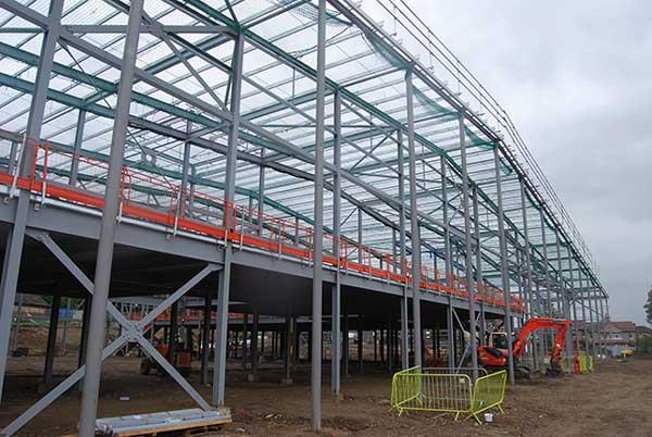 Steel completes at Bradford leisure scheme