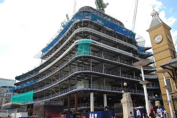 Steelwork rises on Broadgate redevelopment