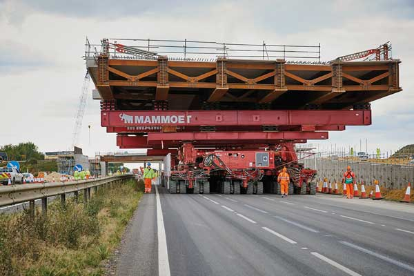 Two bridges installed in 11 hours on A14 upgrade scheme