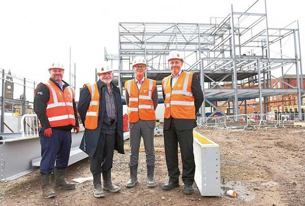 Steel milestone reached at Rochdale town centre
