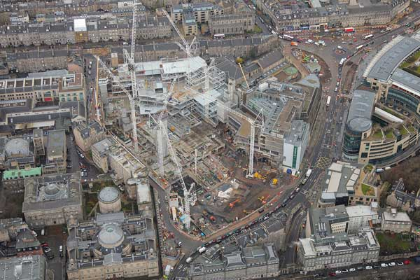 Steelwork continues apace on St James retail scheme