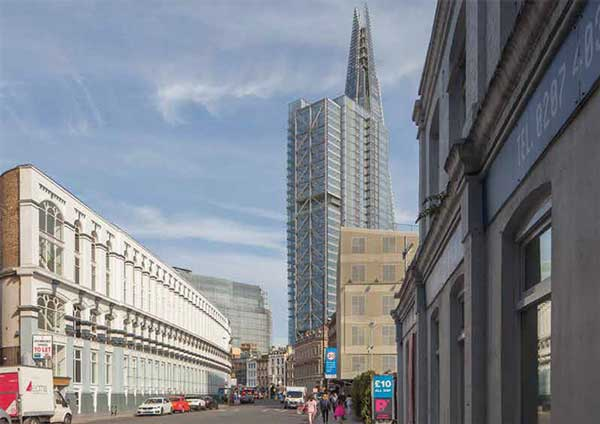 Plans submitted for 31-storey London tower near the Shard