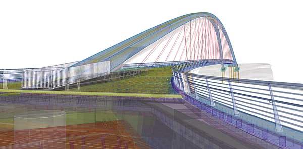 Tekla bridge software extension spans complete design