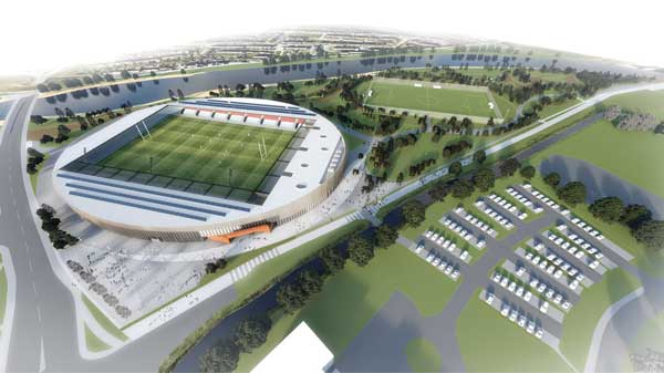 Plans revealed for joint rugby and football stadium in Workington