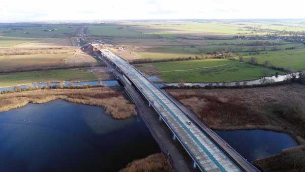 Major milestone reached on A14 improvement scheme – the UK's biggest road upgrade