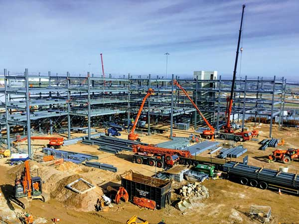 Steel takes off for Luton Airport car park