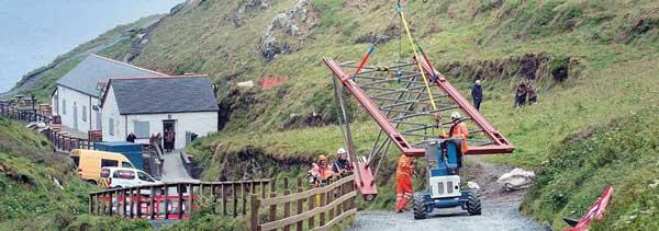 Installation begins for Cornish castle link