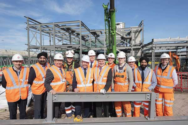 Steel complete for Wolverhampton station phase one