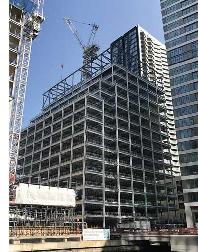 Latest Canary Wharf towers taking shape