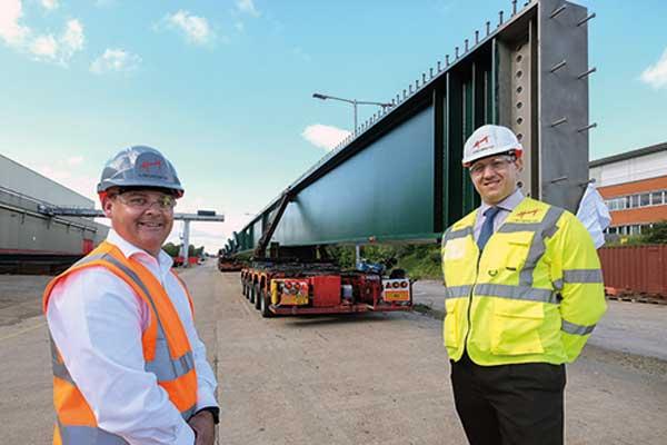 56m-long girders depart for East Midlands bridge