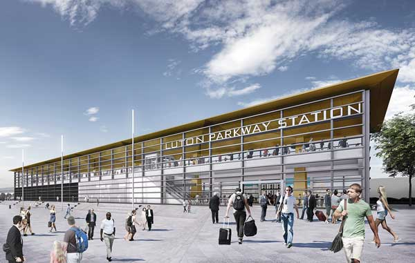 Work underway for Luton Airport fast transit system