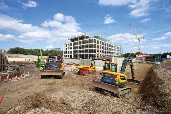 Steel frame completes on Lidl headquarters