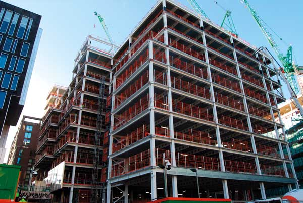 Steel completes on second of twin King's Cross commercial developments