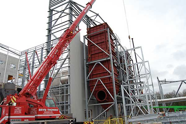Steel provides Cheshire with new power plant