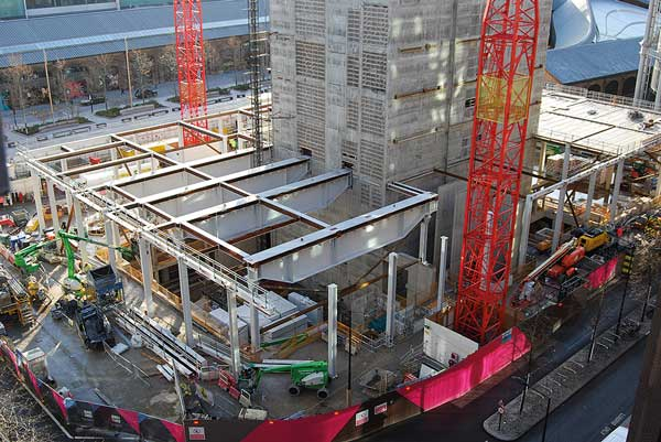 Big girders installed for Facebook offices