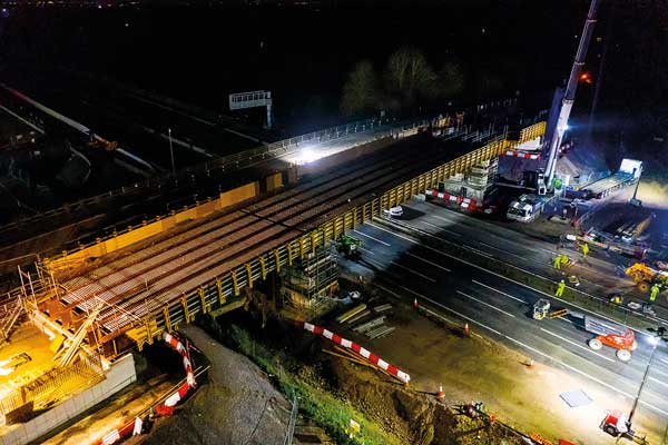 Monkey Island bridge installed over M4