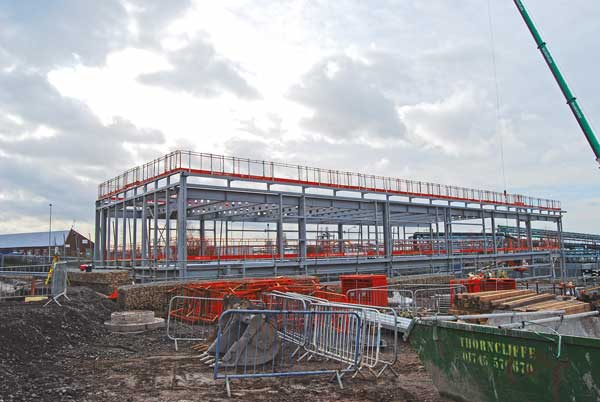 Steelwork provides safe design