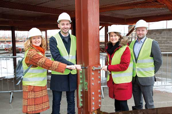 Steelwork tops out at Brixton theatre scheme
