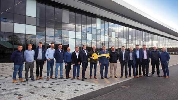 Keys handed over for steel-framed aerospace facility