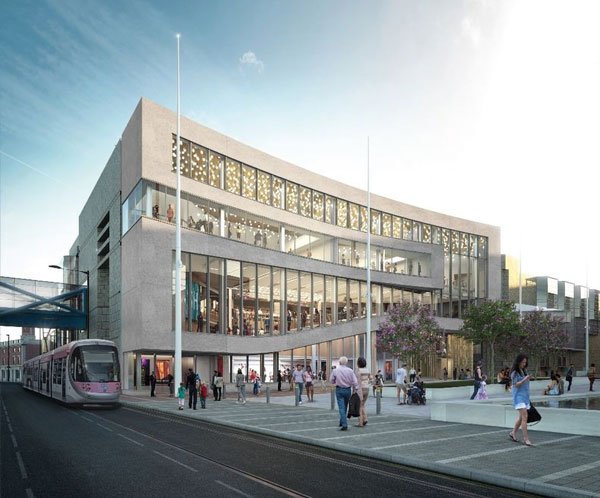 Steelwork completed for  Birmingham Symphony Hall extension