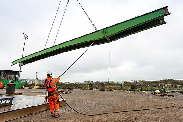 Bridge to Newhaven port successfully installed