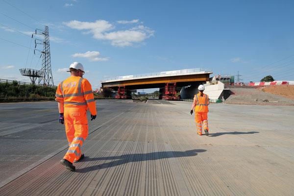First HS2 bridge installed over M42