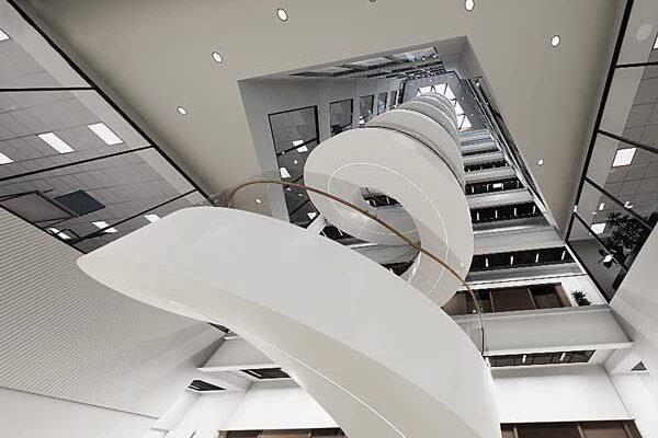 Feature steel staircase for landmark Bristol development